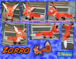 Zorro de peluche - Fox Plushie by Starshot-seeker