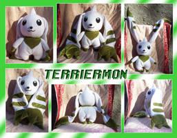 Terriermon Plush by Starshot-seeker
