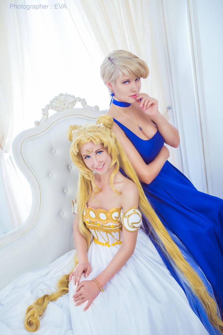Princess Uranus and Princess Serenity by LadaSever