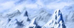 Speedpainting: Icy Peaks by IFoldBooks