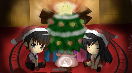 Christmas BFFLs by XMeggie-ChanX