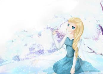 Queen Elsa of Arendelle by XMeggie-ChanX