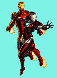 Iron Man and Rescue by WOLFBLADE111