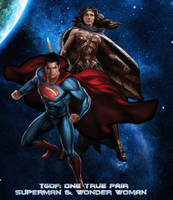TGoF: OTP Superman and Wonder Woman by WOLFBLADE111