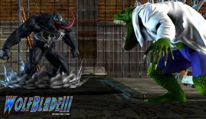 Venom vs The Lizard by WOLFBLADE111