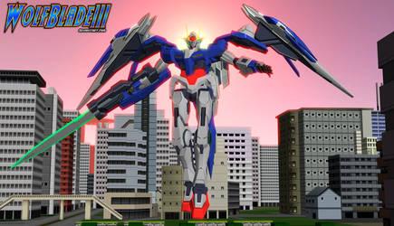 Gundam 00 Raiser by WOLFBLADE111