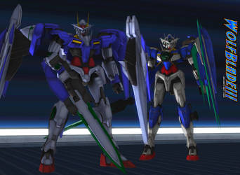 00 Raiser and Qan T by WOLFBLADE111