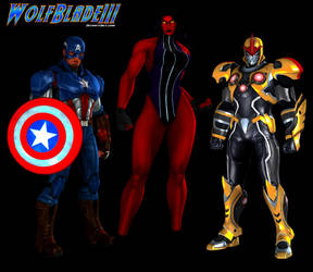 Random Marvel Heroes Team Up. by WOLFBLADE111