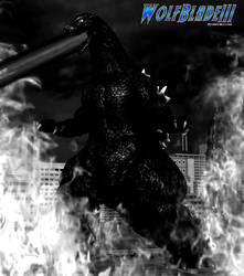 Godzilla Attacks. by WOLFBLADE111