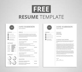Free Resume Template and Cover Letter by Graphicadi