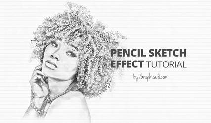 Pencil Sketch Effect in Photoshop by Graphicadi
