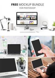 Free Device Mockups / Free PSD Mockups by Graphicadi
