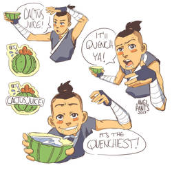 Sokka - Cactus Juice Sketches by angi-pants