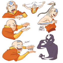 Aang - Practice Sketches by angi-pants