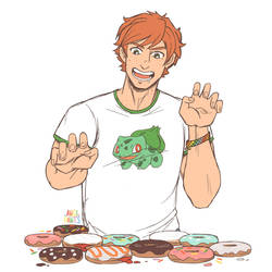 Connor - Donut Day/Pride Month by angi-pants