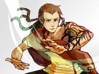 Commission: Thaye (Avatar OC) by c-dra