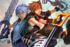 KH3: Sora and Riku by c-dra