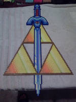 Master Sword and Triforce by Miss-Informed