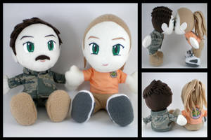 Airman and wifey plushies by eitanya