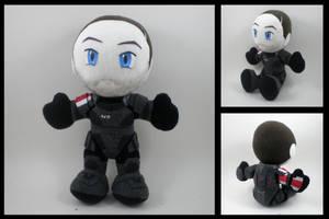 Mass Effect - Shepard plushie by eitanya