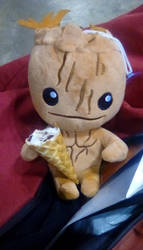 Baby Groot and his ice cream by Demon-Angel1200
