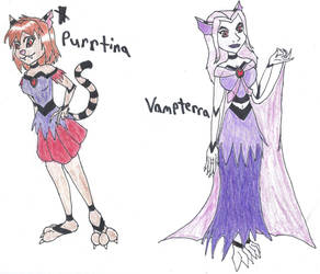 Purrtina and Vamperra Redone by Demon-Angel1200