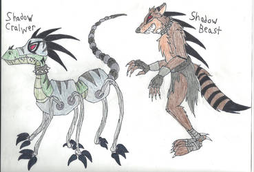 Shadow Crawler and Shadow Beast by Demon-Angel1200