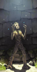 Crying Groot by HawkeyeWong