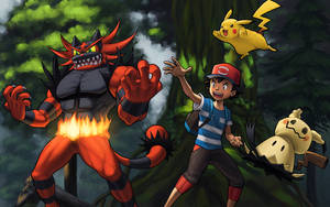 Fighting together with Ash by HawkeyeWong