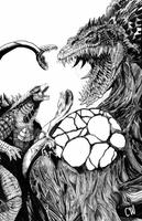 Legendary Godzilla vs Biolllante by ChristianWillett