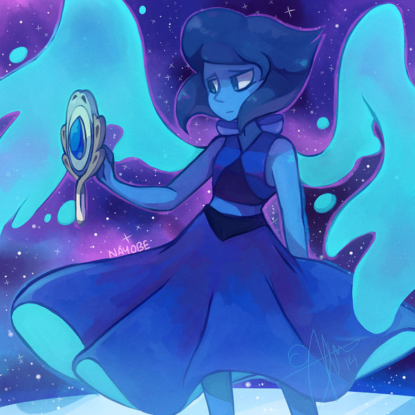 anyone caught the episode last night? yes? yes. yes. Love her design and love her name (I too have a Gem named Lapis Lazuli so I'm double happy) Also two (or three) of my headcanons were confirmed ...