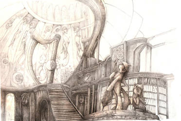 The Old Hall of Melodies WIP 04 by Simbaro