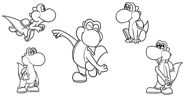Yoshi Doodles by timsplosion