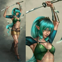Elven Girl by Cyzra