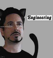 Meow! Tony Stark by bbq-bby
