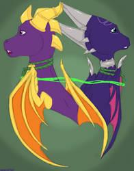 Spyro and Cynder by AlchemyFox