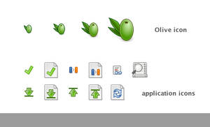 Olive icons by klepas