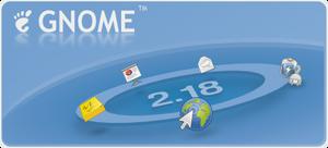 GNOME 2.18 splash by klepas