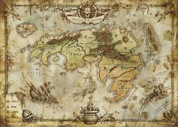 Map of Moth Na Ghor by FrancescaBaerald
