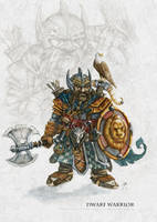Dwarf Warrior by FrancescaBaerald
