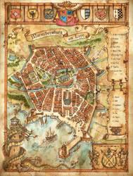 'Mariechensburg am Lynn' Map by FrancescaBaerald