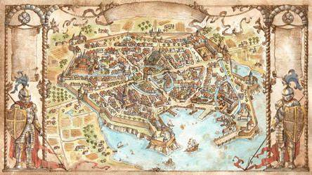 City Map - That Which Sleeps Game by FrancescaBaerald
