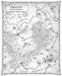 Map of Arkavia - Knight of Aslath by FrancescaBaerald