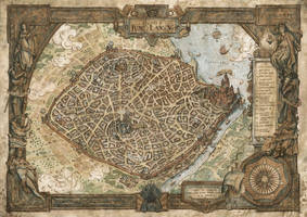King's Landing Map - Game of Thrones by FrancescaBaerald