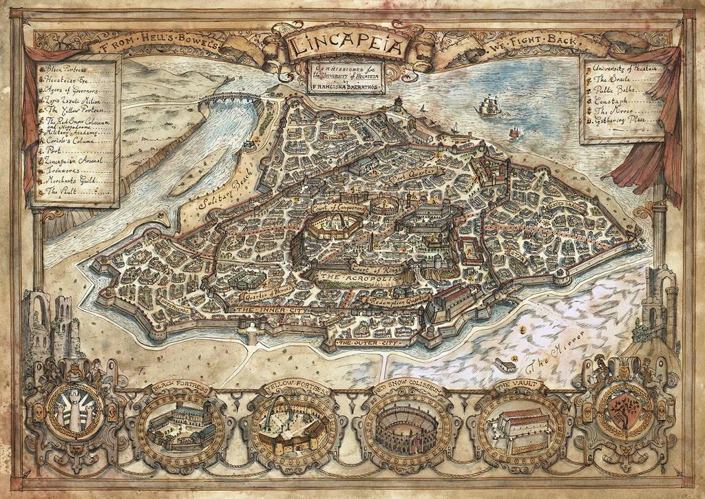 Map of Lincapeia by FrancescaBaerald