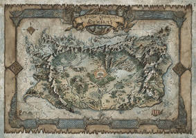 Il Grande Continente di Snaeland RPG Map by FrancescaBaerald
