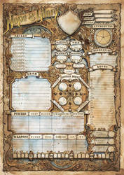 Hope and Glory RPG Charater Sheet by FrancescaBaerald