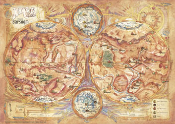 Official Map of Barsoom - John Carter  RPG by FrancescaBaerald