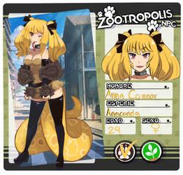 :Zootropolis Ficha: Anna Connor by Anini-Chu