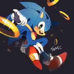 Sonic by Hanybe